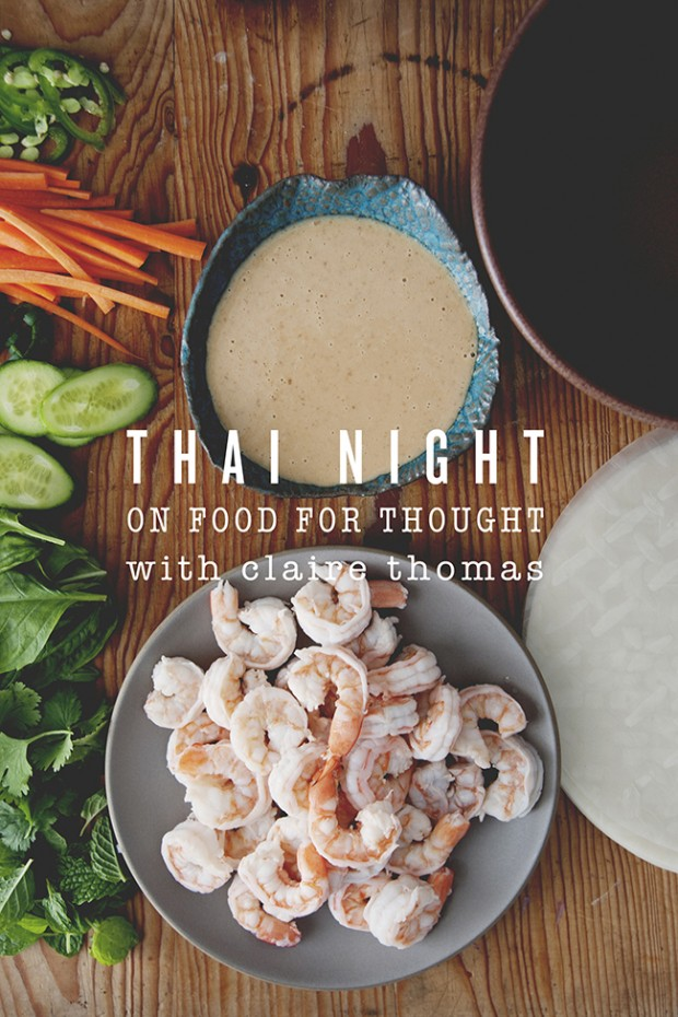 Food For Thought With Claire Thomas Thai Night