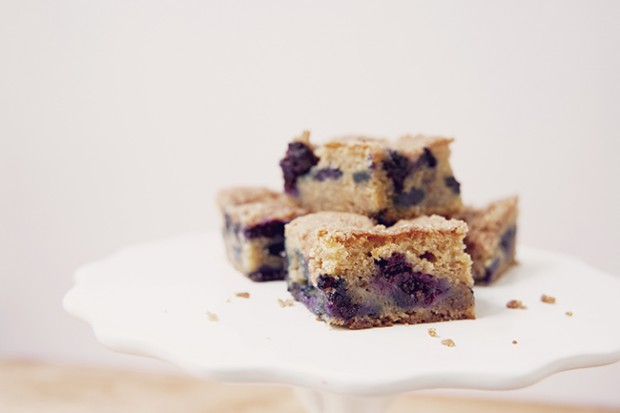 Blueberry Sour Cream Coffee Cake Recipe — Dishmaps