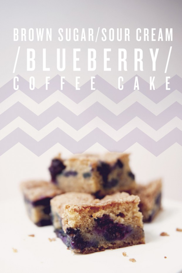 BROWN SUGAR SOUR CREAM BLUEBERRY COFFEE CAKE - The Kitchy ...