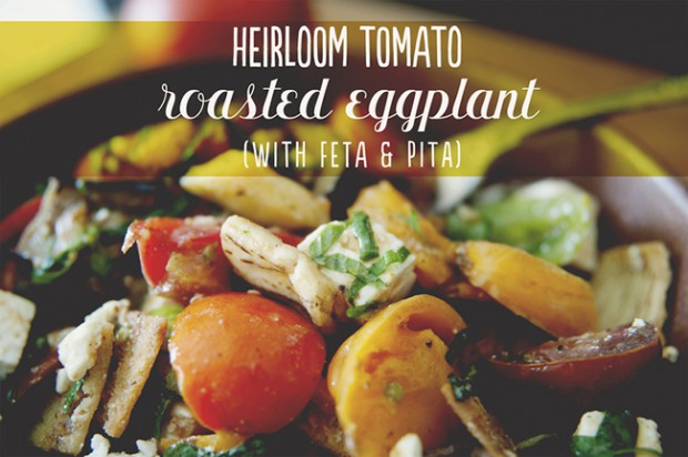 FLASHBACK FRIDAY: HEIRLOOM TOMATO ROASTED EGGPLANT SALAD | The Kitchy ...