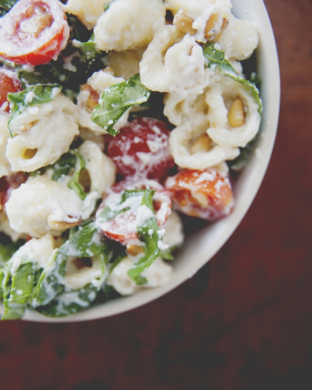 DECONSTRUCTED PESTO PASTA SALAD