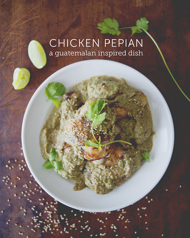 CHICKEN PEPIAN: CHICKEN IN SPICY PUMPKIN + SESAME SEED SAUCE // The Kitchy Kitchen