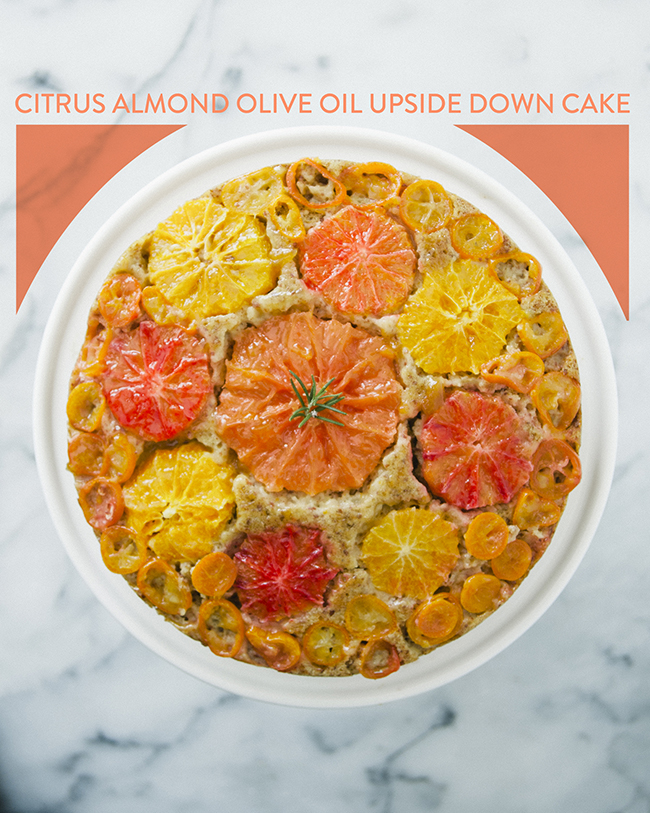 CITRUS ALMOND OLIVE OIL UPSIDE DOWN CAKE // The Kitchy Kitchen