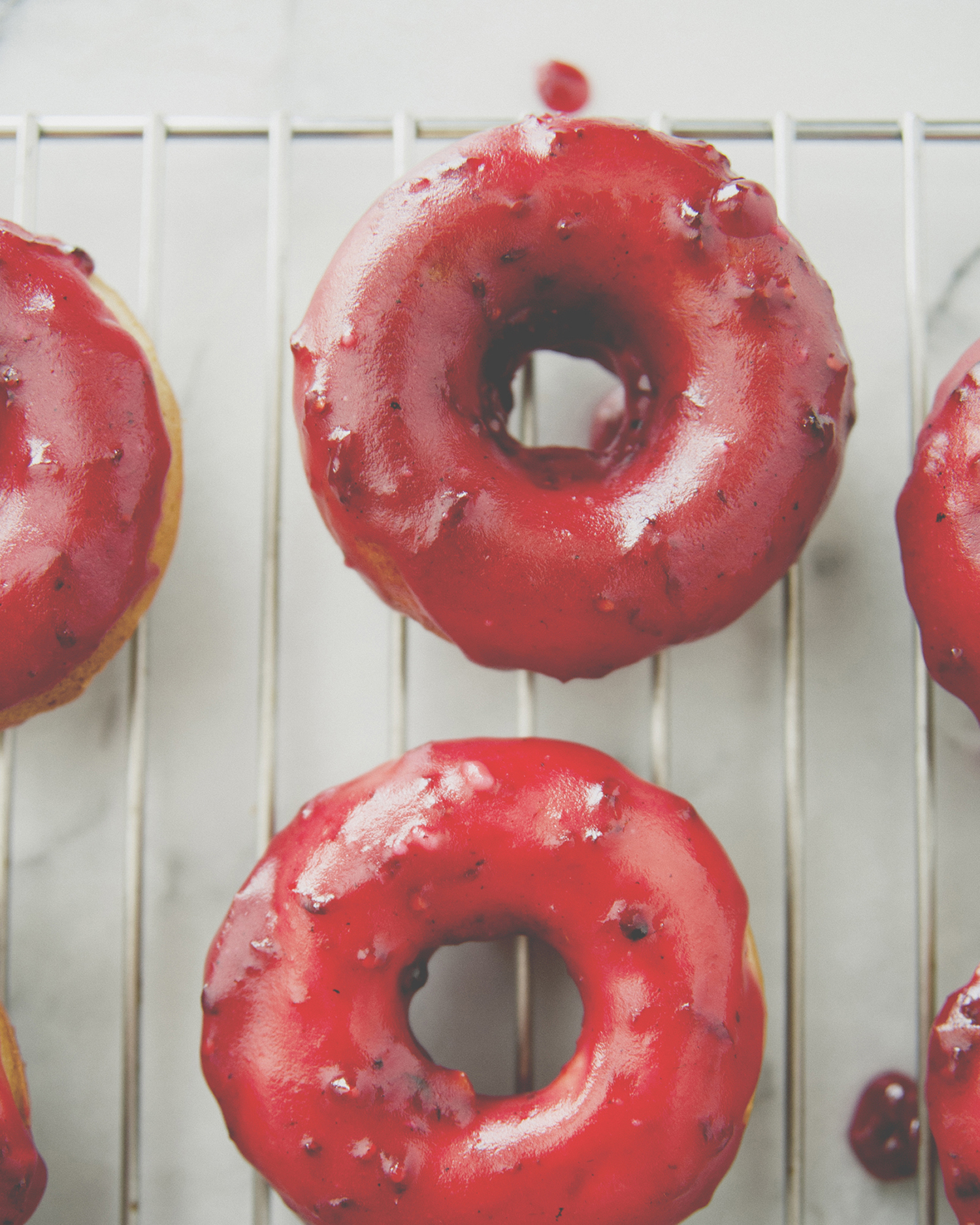 Blackberry Glazed Brown Butter Doughnuts recipe //The Kitchy Kitchen