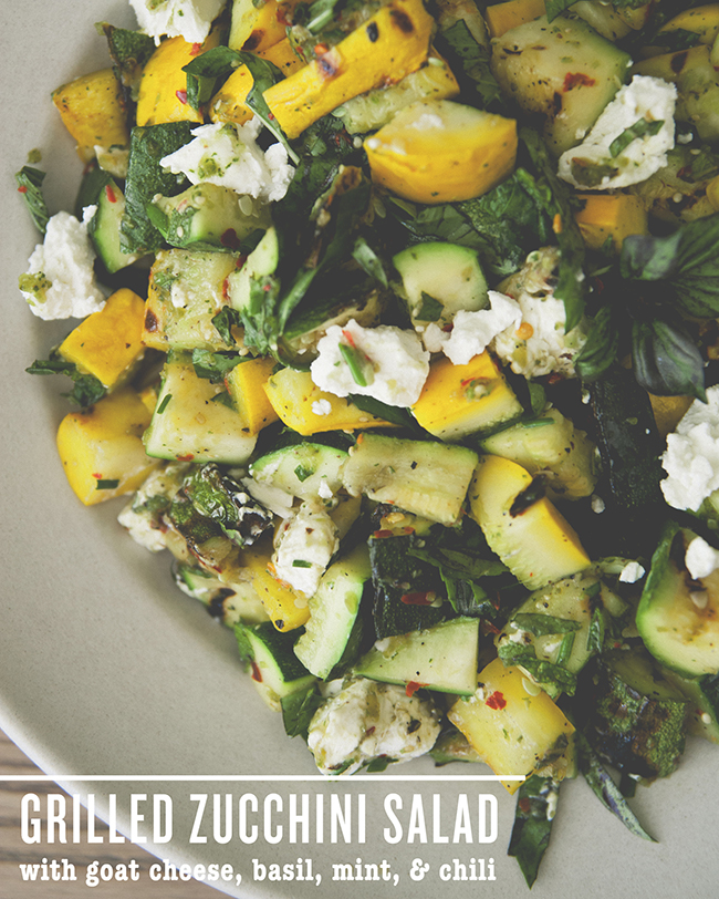 GRILLED ZUCCHINI SALAD BY PRESIDENT CHEESE // The Kitchy Kitchen