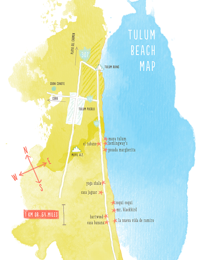 Tulum Beach Map copy
