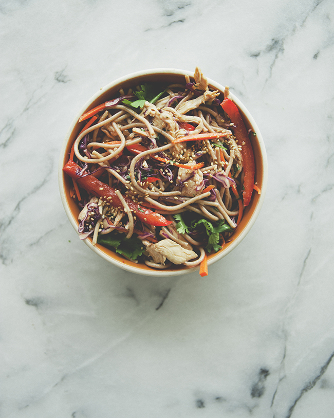 SOBA NOODLE SALAD // The Kitchy Kitchen