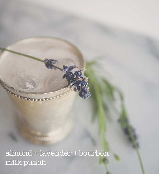 ALMOND LAVENDER MILK PUNCH // The Kitchy Kitchen