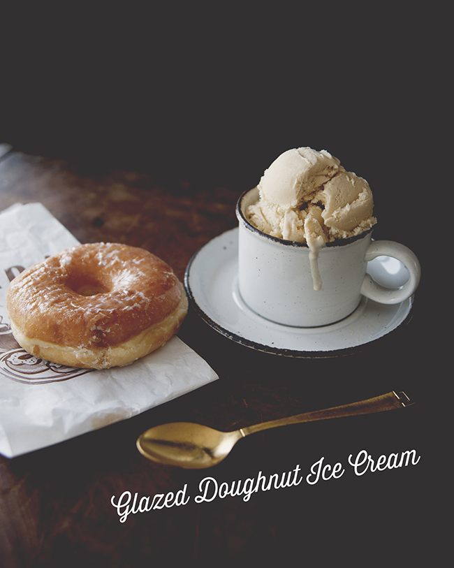 GLAZED DOUGHNUT ICE CREAM // The Kitchy Kitchen
