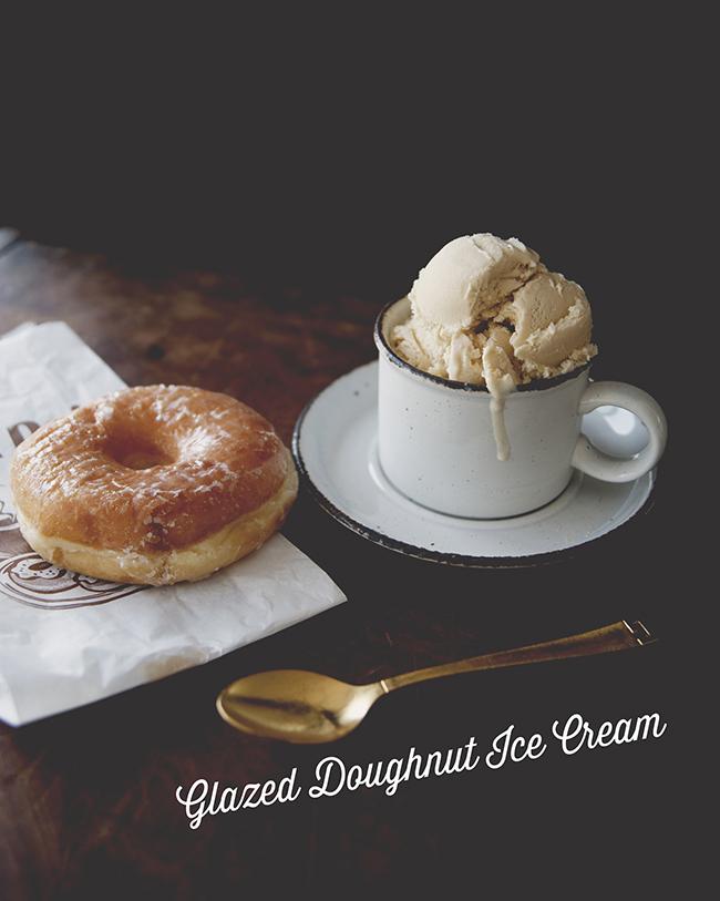 GLAZED DOUGHNUT ICE CREAM // The Kitchy Kitchen