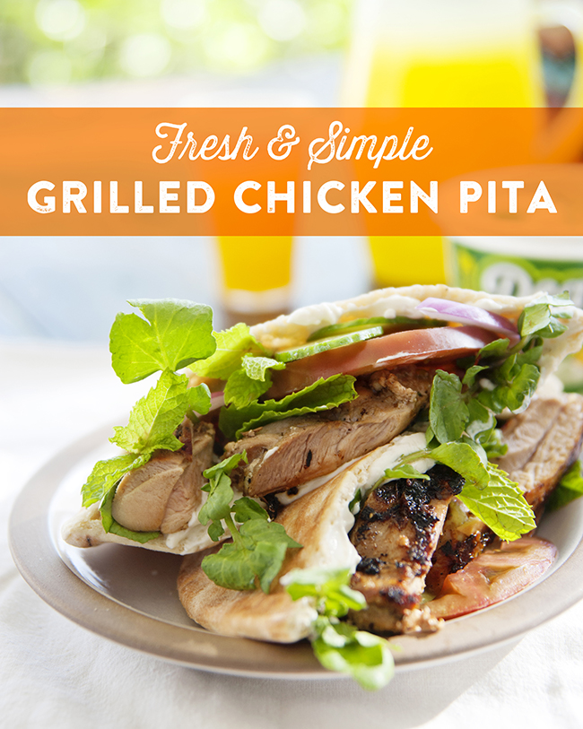 CHICKEN PITA // The Kitchy Kitchen