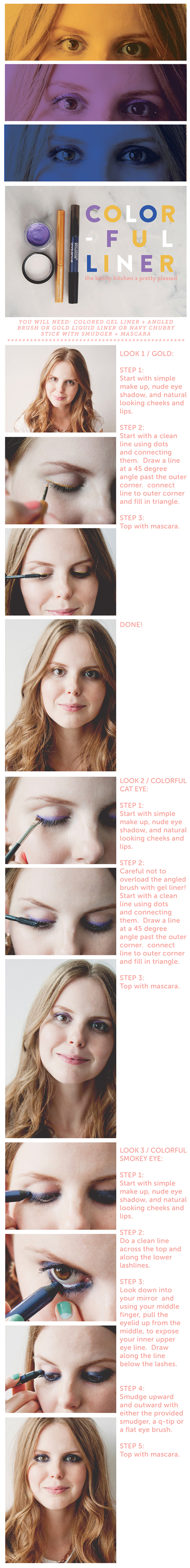 COLORFUL EYELINER // The Kitchy Kitchen