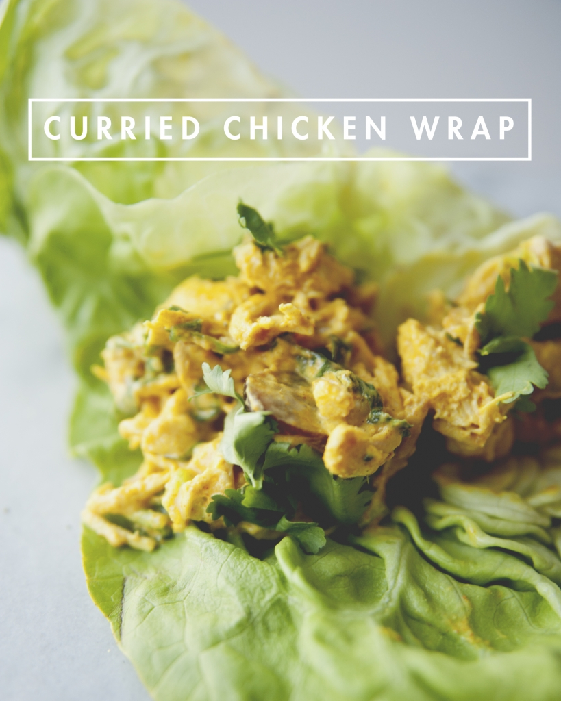 CURRIED CHICKEN WRAPS // MOM MONDAY - The Kitchy Kitchen