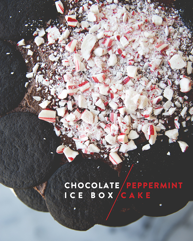 CHOCOLATE PEPPERMINT ICE BOX CAKE // The Kitchy Kitchen