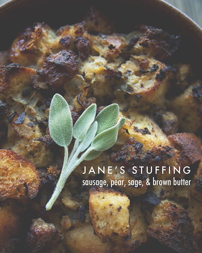 JANE'S STUFFING // The Kitchy Kitchen
