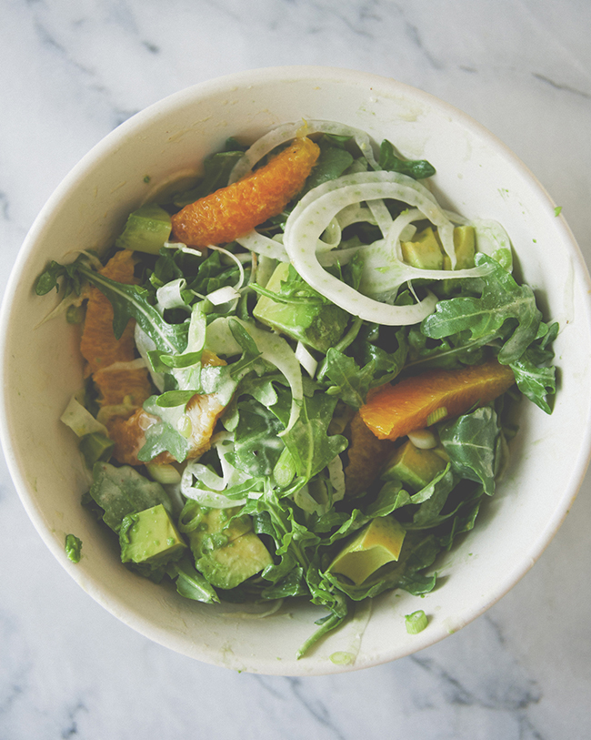 CITRUS FENNEL TAHINI SALAD // THE KITCHY KITCHEN