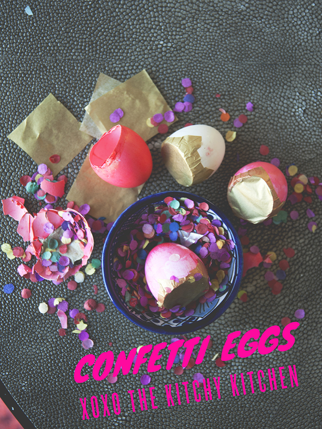 DIY CONFETTI EGGS // The Kitchy Kitchen