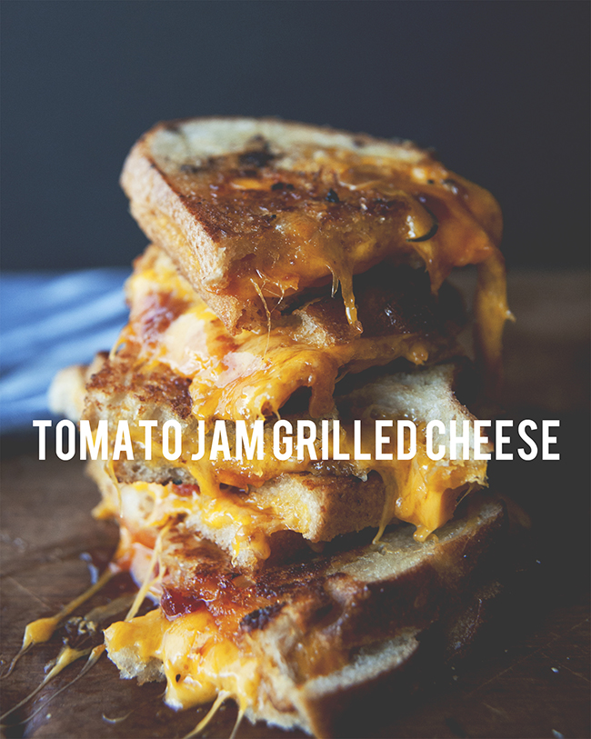 TOMATO JAM GRILLED CHEESE // The Kitchy Kitchen