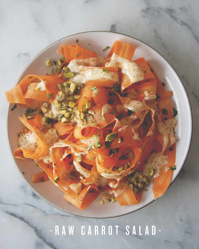 RAW CARROT SALAD // The Kitchy Kitchen