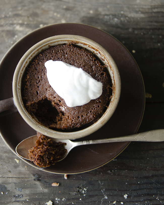 TWO MINUTE CHOCOLATE CAKE // The Kitchy Kitchen