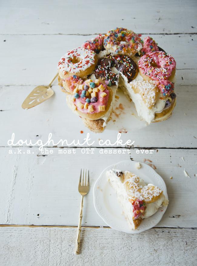 DOUGHNUT CAKE // THE KITCHY KITCHEN