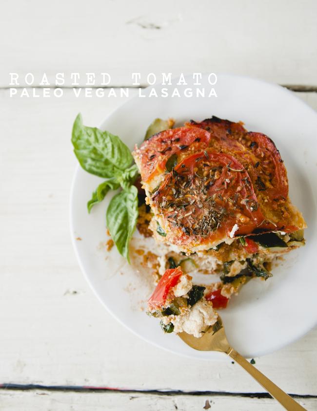 ROASTED TOMATO PAELO VEGAN LASAGNA - The Kitchy Kitchen