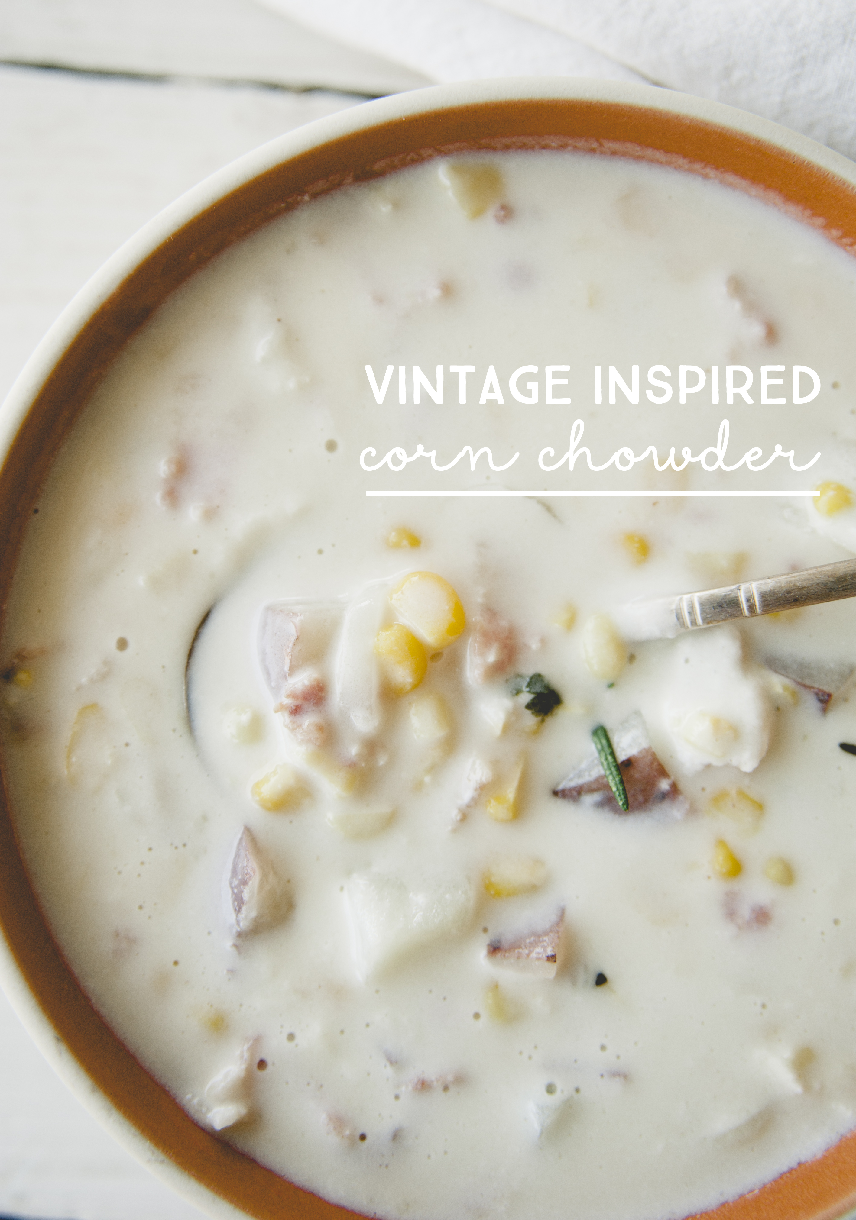 VINTAGE INSPIRED CORN CHOWER // THE KITCHY KITCHEN
