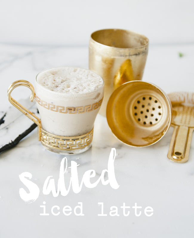 SALTED ICED LATTE // THE KITCHY KITCHEN