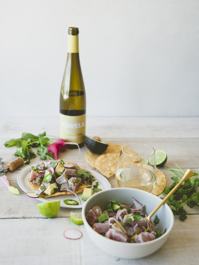 VINHO VERDE CEVICHE // SPONSORED BY WINES OF VINHO VERDE - The Kitchy Kitchen