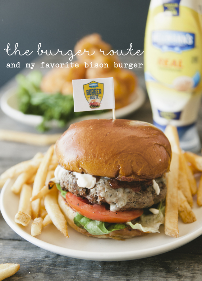 THE BURGER ROUTE AND MY FAVORITE BISON BURGER SPONSORED BY HELLMANN'S // THE KITCHY KITCHEN