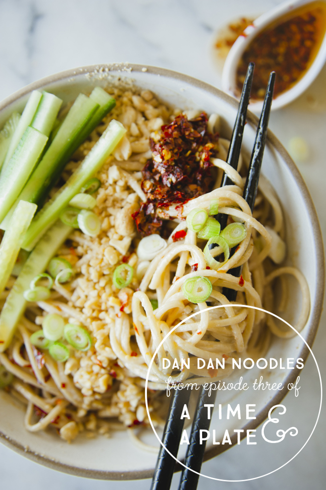 DAN DAN NOODLES FROM EPISODE THREE OF A TIME AND A PLATE // THE KITCHY KITCHEN