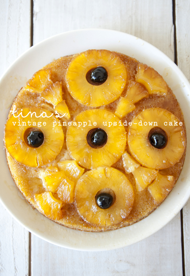 TINA'S VINTAGE PINEAPPLE UPSIDE-DOWN CAKE // THE KITCHY KITCHEN