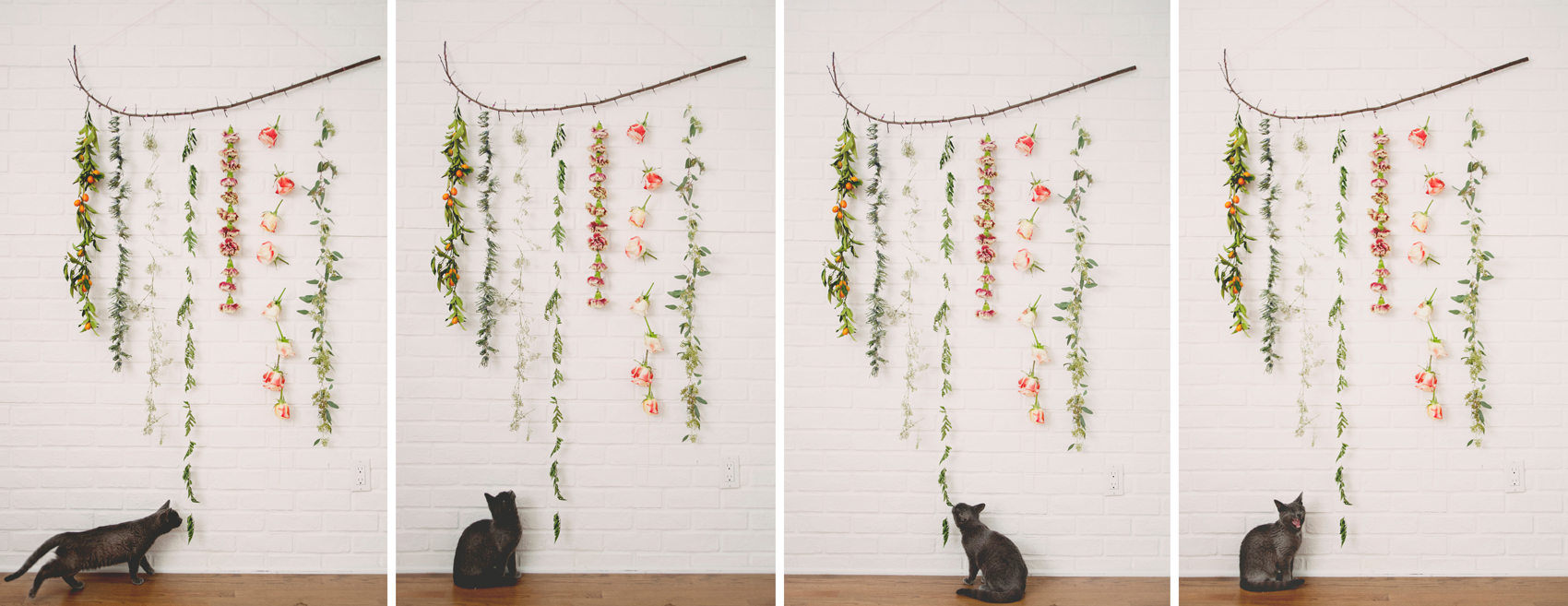 Diy Flower Garland Wall Hanging The Kitchy Kitchen