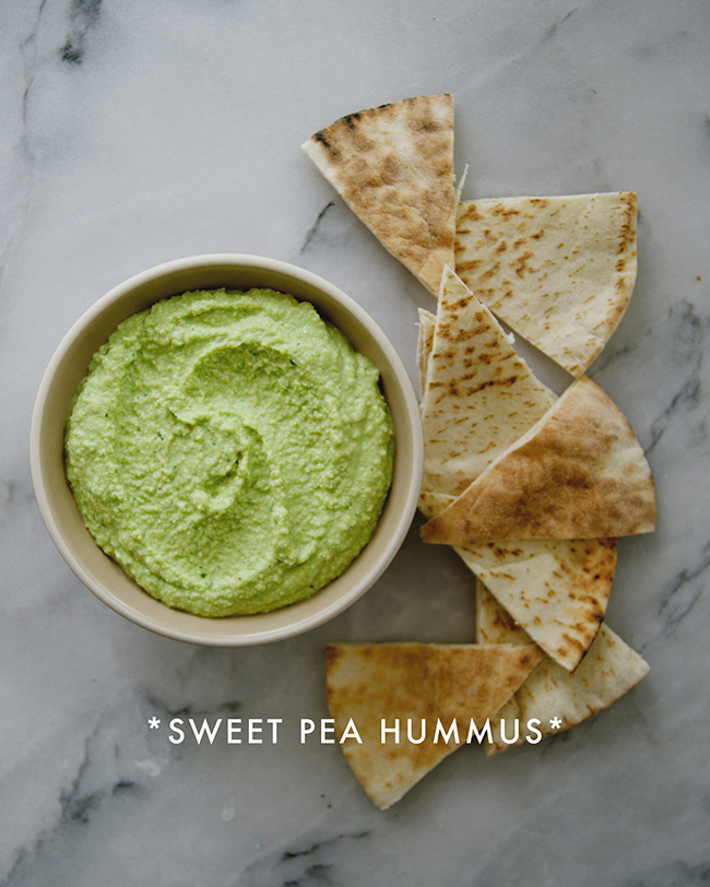 SWEET PEA HUMMUS // The Kitchy Kitchen
