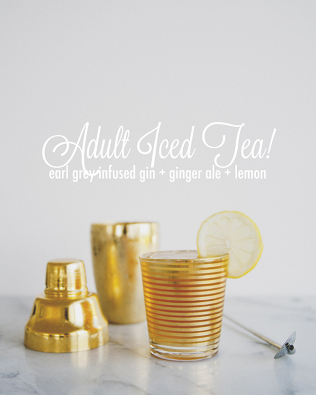 ADULT ICED TEA // The Kitchy Kitchen