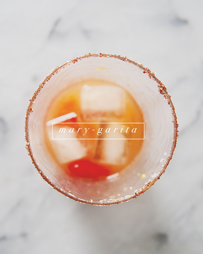 MARY-GARITA COCKTAIL THAT COMBINES A MARGARITA WITH A BLOODY MARY// The Kitchy Kitchen