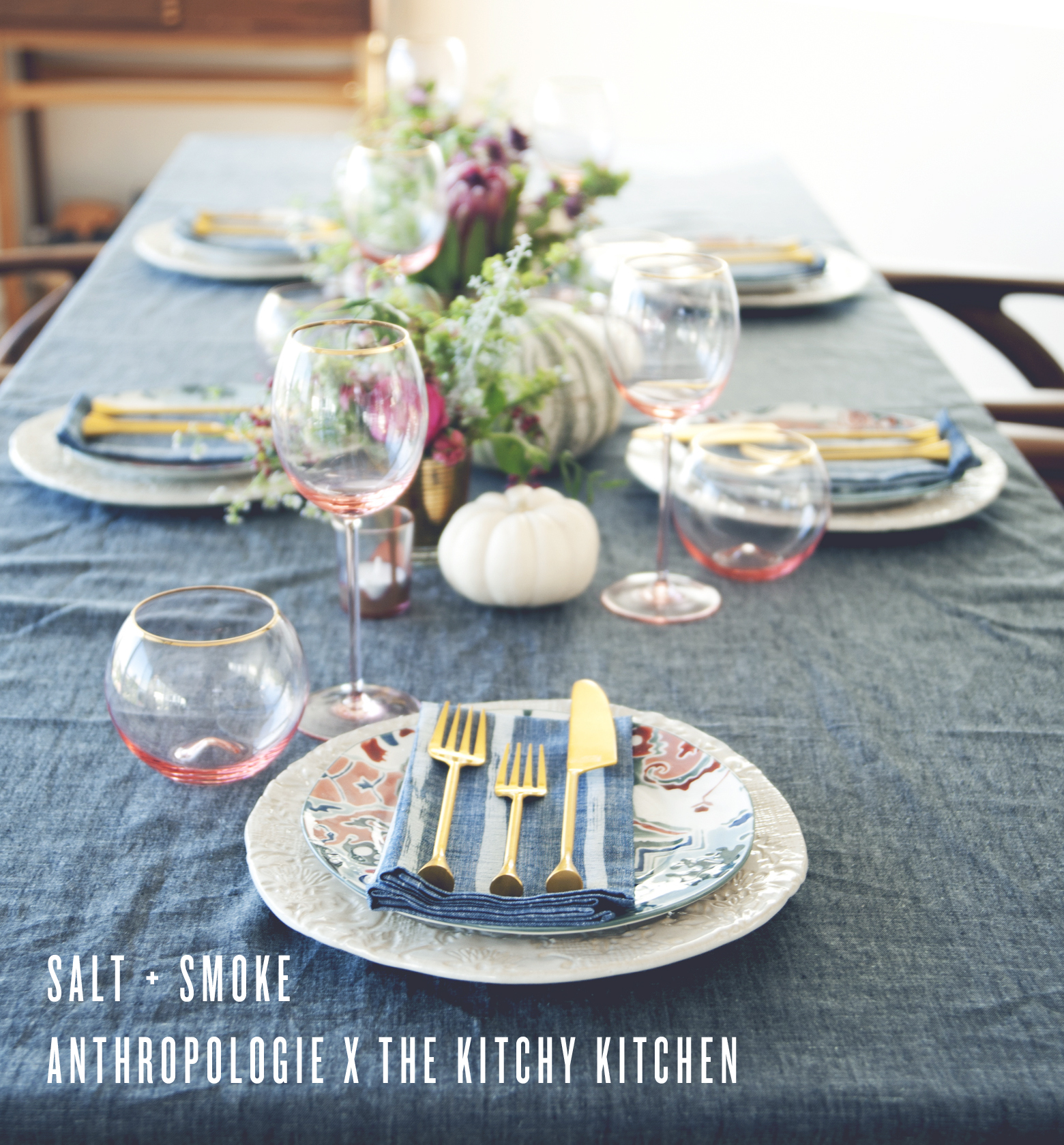 The Kitchy Kitchen: SALT + SMOKE DINNER PARTY WITH ANTHROPOLOGIE