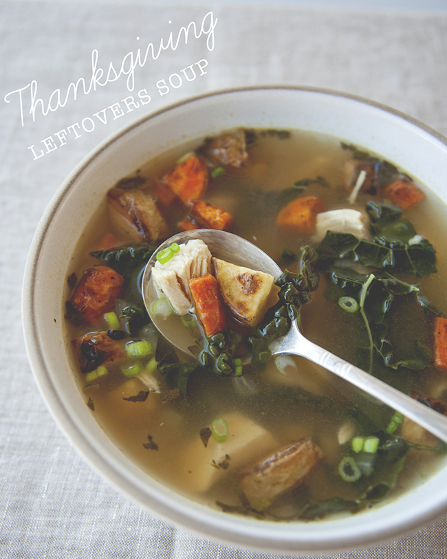 THANKSGIVING LEFTOVERS SOUP // The Kitchy Kitchen