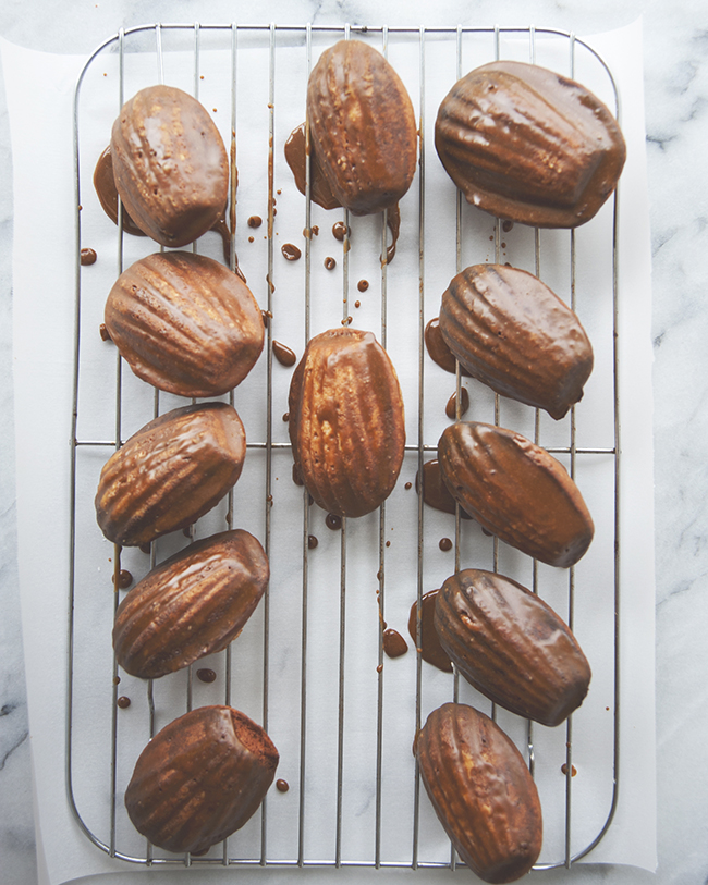 GINGERBREAD MADELEINES WITH MOLASSES GLAZE // The Kitchy Kitchen