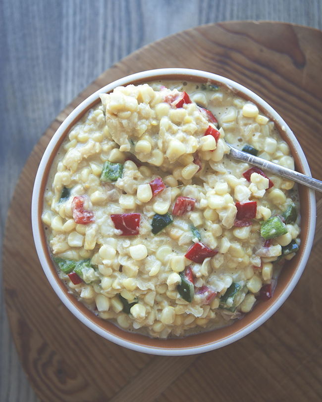 SPICY + SWEET CREAMED CORN // The Kitchy Kitchen