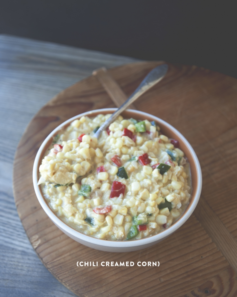 CHILI CREAMED CORN // The Kitchy Kitchen