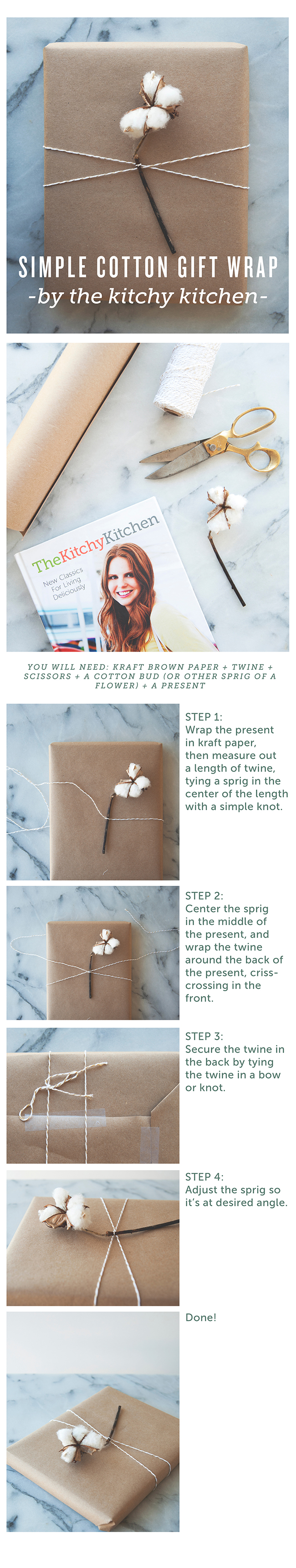 COTTON // DIY GIFT WRAPPING // The Kitchy Kitchen
