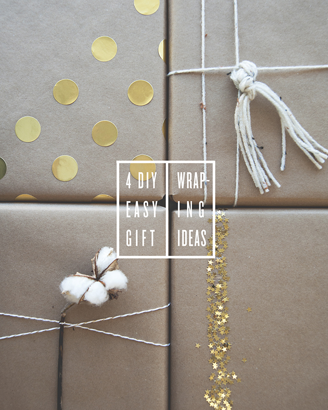 DIY GIFT WRAPPING // The Kitchy Kitchen