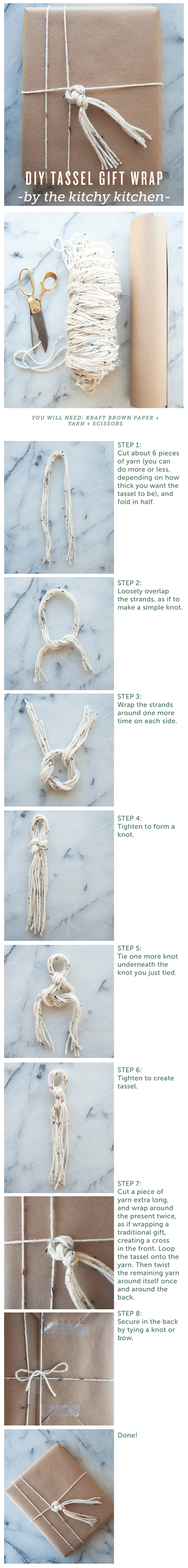 TASSELS // DIY GIFT WRAPPING // The Kitchy Kitchen