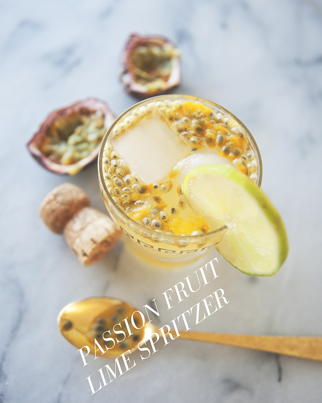 PASSIONFRUIT LIME SPRITZER // THE KITCHY KITCHEN