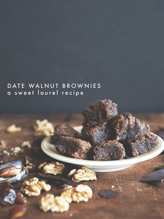 DATE AND WALNUT BROWNIES // The Kitchy Kitchen