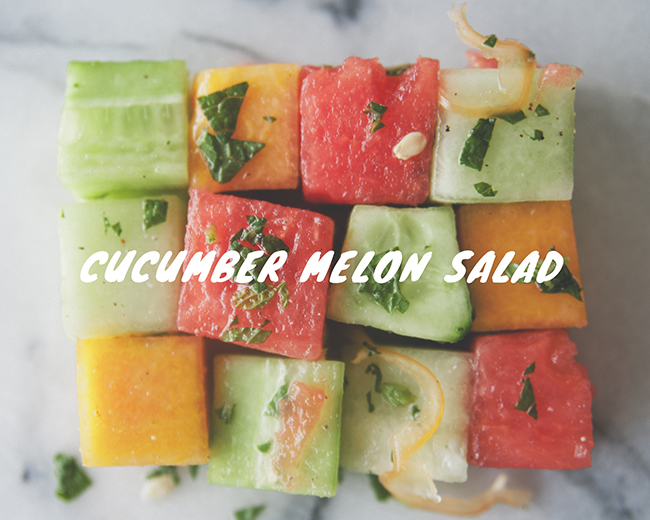 CUCUMBER MELON SALAD // The Kitchy Kitchen