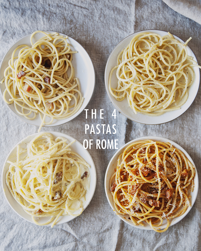 THE 4 ROMAN PASTAS // The Kitchy Kitchen