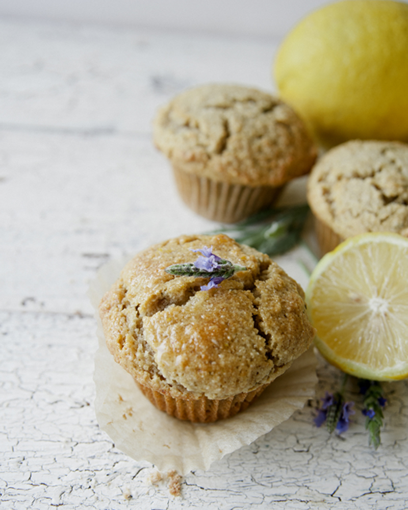 Paleo Almond Lavender Muffins / The Kitchy Kitchen @almondbreeze #ad