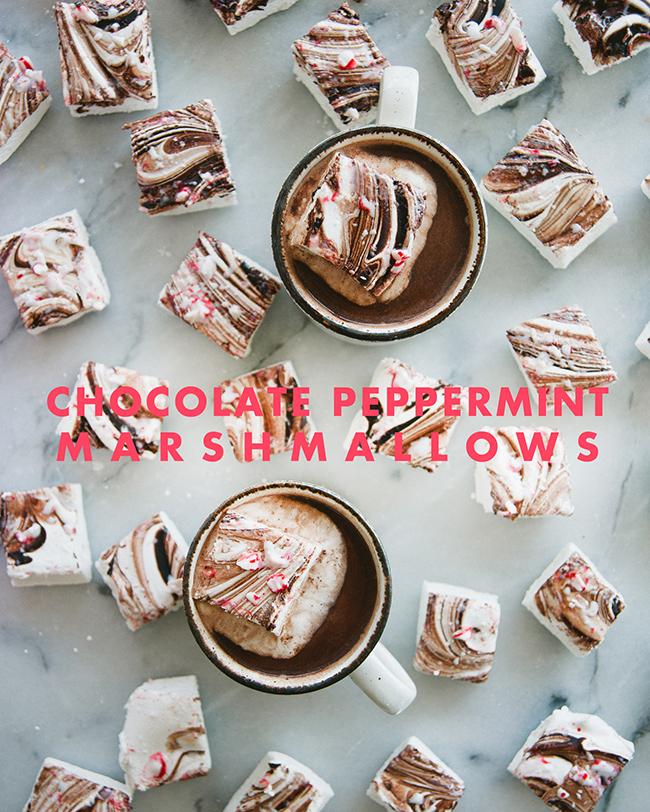 PEPPERMINT MARSHMALLOWS // The Kitchy Kitchen